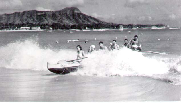 Waikiki, Diamond Head, 1940