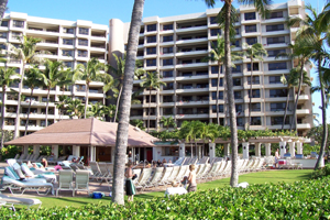 Crowded Kaanapali Highrises